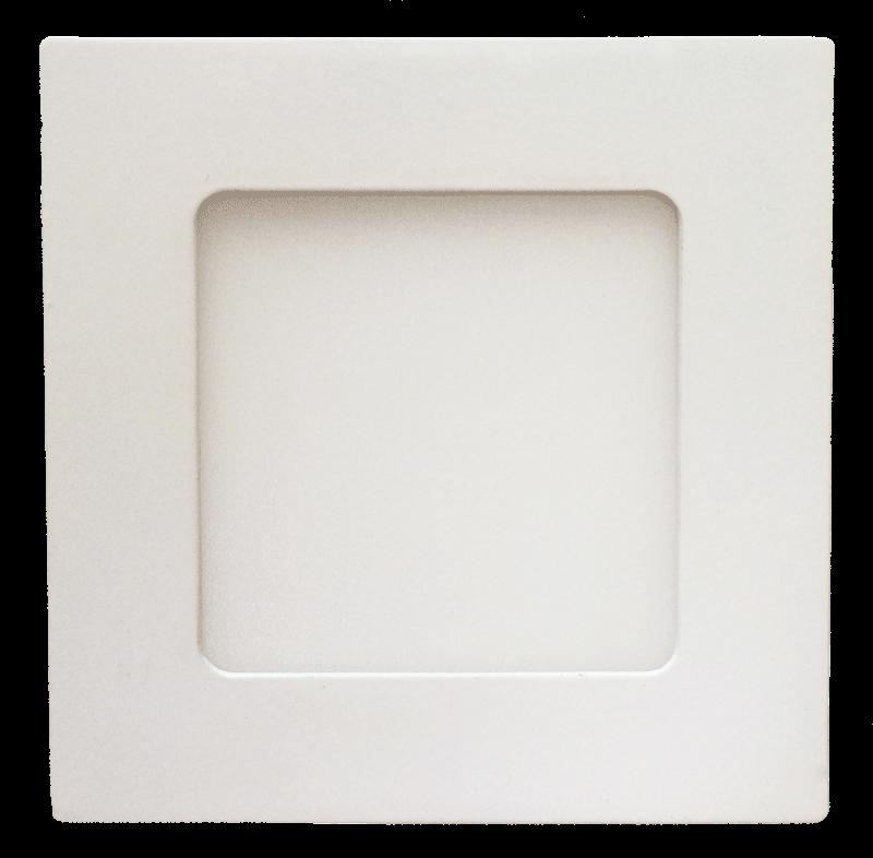 LED Einbauleuchte 6W eckig rund weiß 120mm - shop4licht